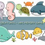 Kids Memory Sea Creature
