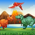 Colorful Dinosaurs Match 3