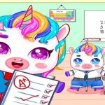 Mini Town: My Unicorn School Kids Games 2021