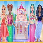 Princess & Mermaid Doll House Decorating
