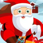 Santa on skates